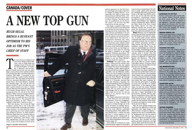 Article Preview: A NEW TOP GUN, January 1992 | Maclean's