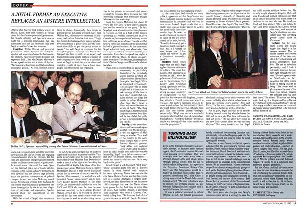 Article Preview: TURNING BACK BILINGUALISM, January 1992 | Maclean's