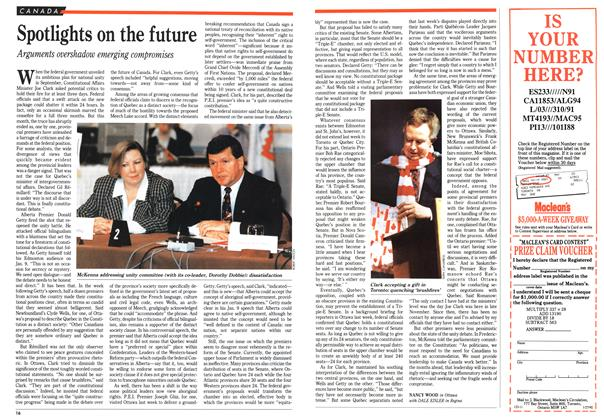 Article Preview: Spotlights on the future, January 1992 | Maclean's