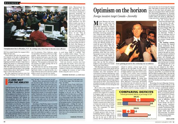 Article Preview: Optimism on the horizon, January 1992 | Maclean's