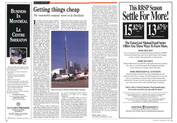 Article Preview: Getting things cheap, January 1992 | Maclean's