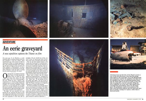 Article Preview: An eerie graveyard, January 1992 | Maclean's