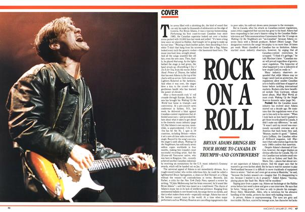 Article Preview: ROCK ON A ROLL, January 1992 | Maclean's