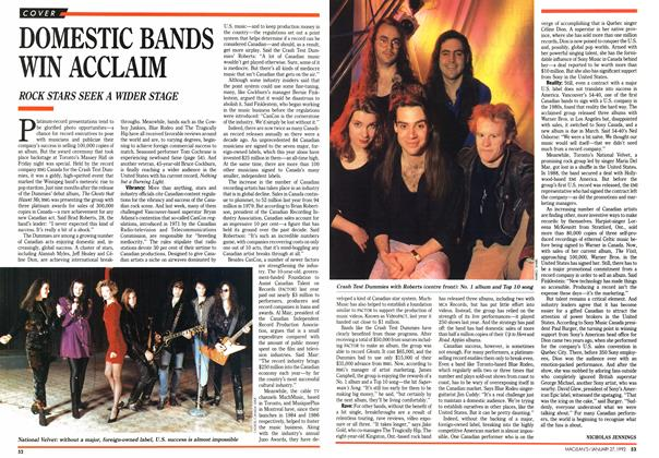 Article Preview: DOMESTIC BANDS WIN ACCLAIM, January 1992 | Maclean's
