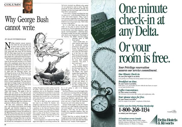 Article Preview: Why George Bush cannot write, January 1992   Maclean's