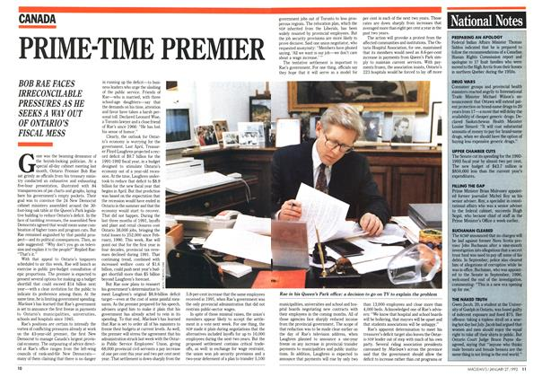 Article Preview: PRIME-TIME PREMIER, January 1992 | Maclean's