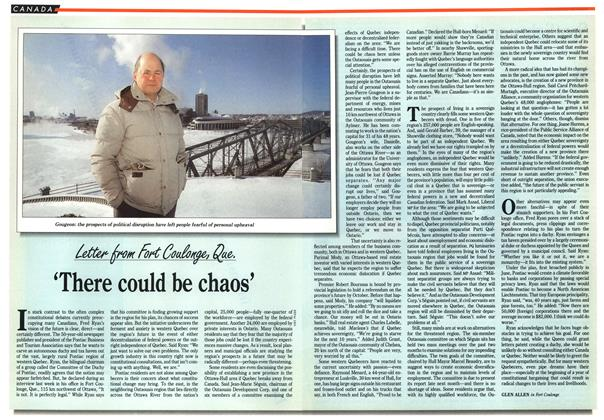 Article Preview: 'There could be chaos', January 1992 | Maclean's