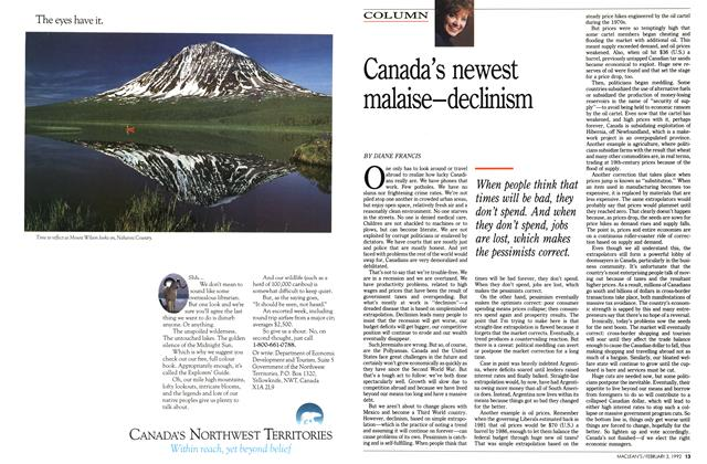 Article Preview: Canada's newest malaise—declinism, February 1992 | Maclean's