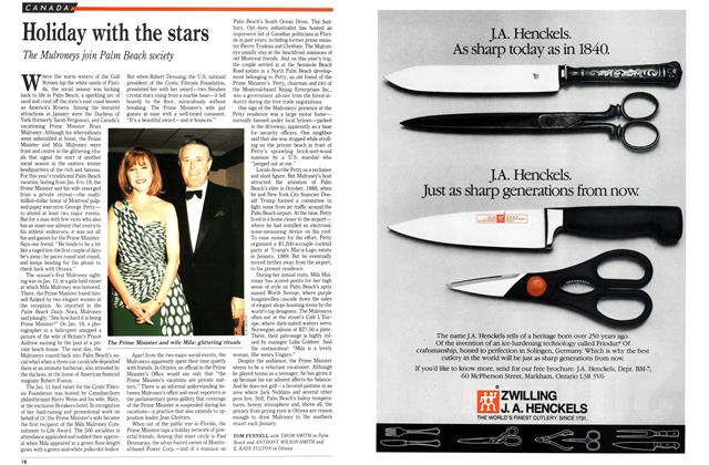 Article Preview: Holiday with the stars, February 1992 | Maclean's