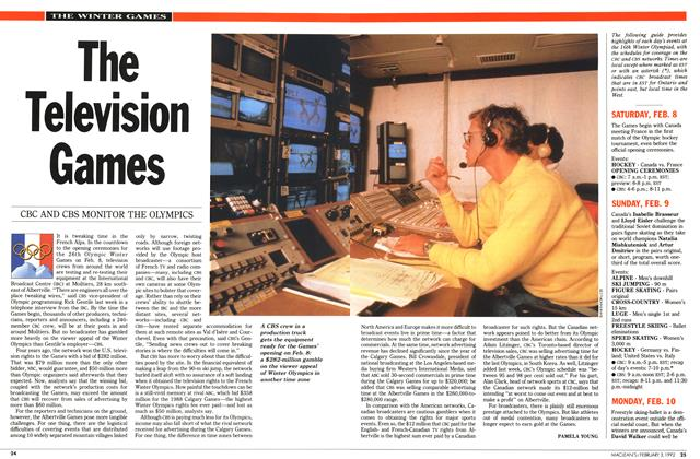 Article Preview: The Television Games, February 1992 | Maclean's
