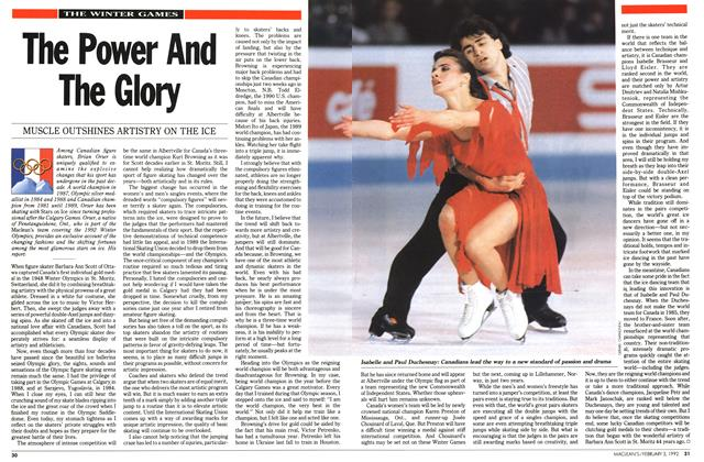 Article Preview: The Power And The Glory, February 1992 | Maclean's