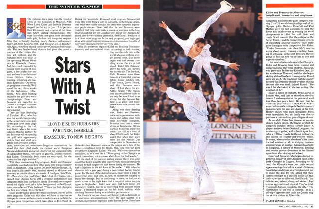 Article Preview: Stars With A Twist, February 1992 | Maclean's