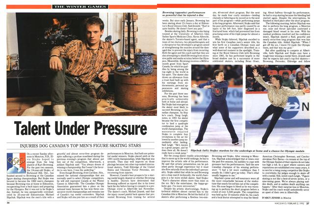 Article Preview: Talent Under Pressure, February 1992 | Maclean's