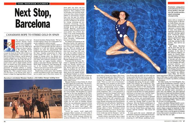Article Preview: Next Stop, Barcelona, February 1992 | Maclean's