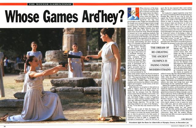 Article Preview: Whose Games Are They?, February 1992 | Maclean's