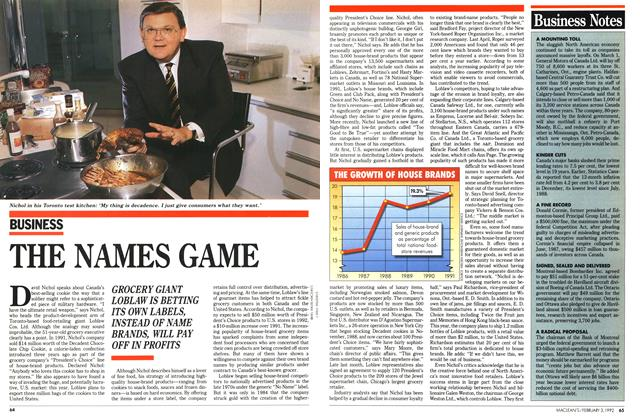 Article Preview: THE NAMES GAME, February 1992 | Maclean's