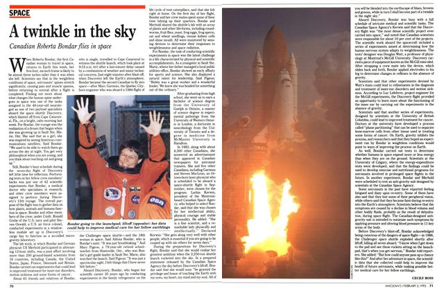 Article Preview: A twinkle in the sky, February 1992 | Maclean's