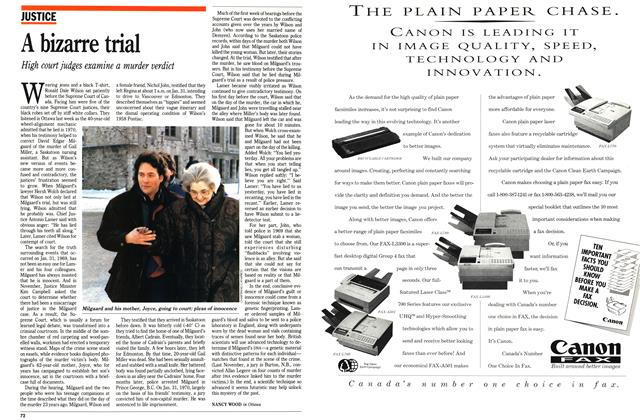 Article Preview: A bizarre trial, February 1992 | Maclean's