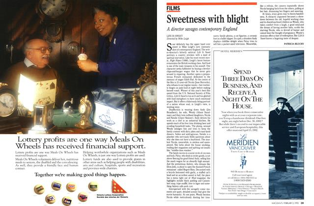 Article Preview: Sweetness with blight, February 1992 | Maclean's