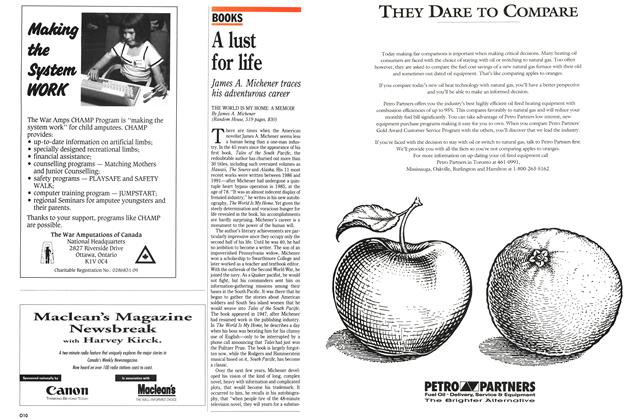 Article Preview: A lust for life, February 1992 | Maclean's
