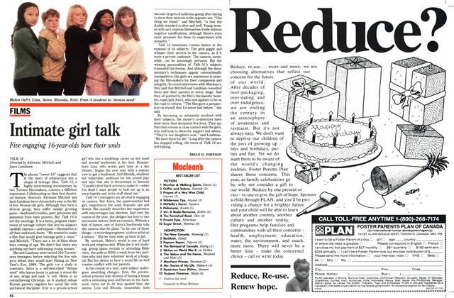 Article Preview: Intimate girl talk, February 1992 | Maclean's