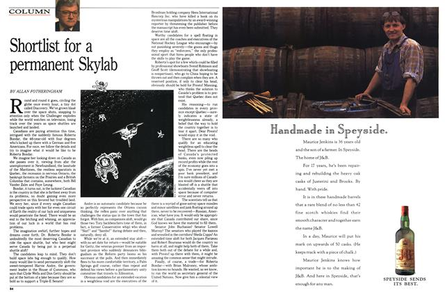 Article Preview: Shortlist for a permanent Skylab, February 1992 | Maclean's