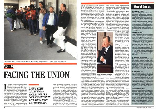 Article Preview: FACING THE UNION, February 1992 | Maclean's