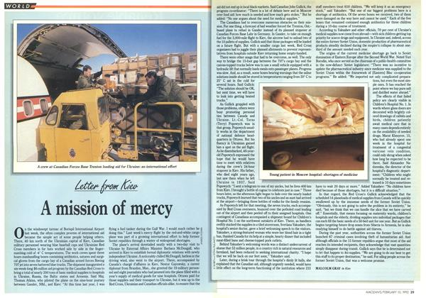 Article Preview: A mission of mercy, February 1992 | Maclean's
