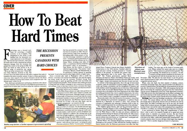 Article Preview: How To Beat Hard Times, February 1992 | Maclean's