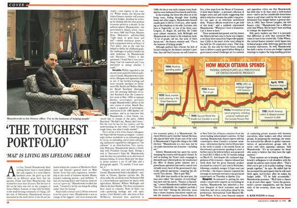 Article Preview: 'THE TOUGHEST PORTFOLIO', February 1992 | Maclean's