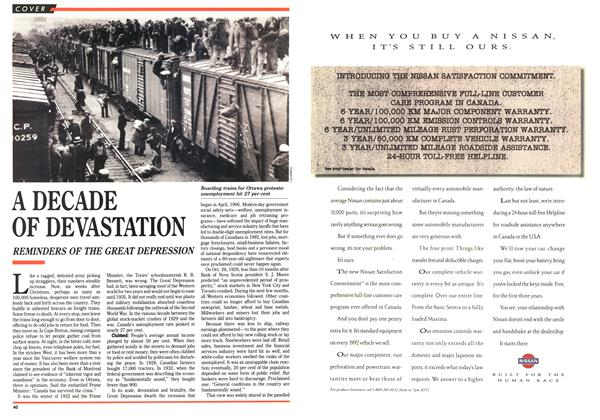 Article Preview: A DECADE OF DEVASTATION, February 1992 | Maclean's