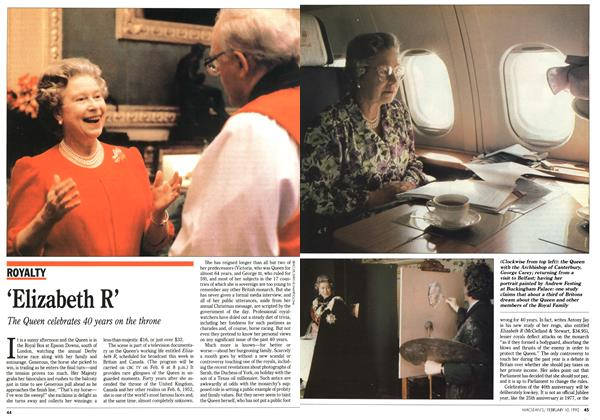 Article Preview: 'Elizabeth R', February 1992 | Maclean's