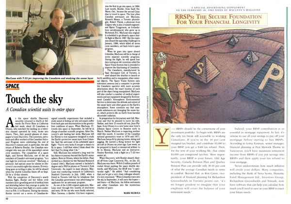 Article Preview: Touch the sky, February 1992 | Maclean's