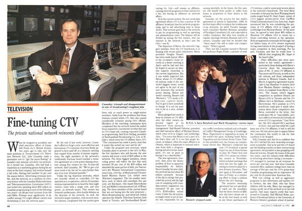 Article Preview: Fine-tuning CTV, February 1992 | Maclean's