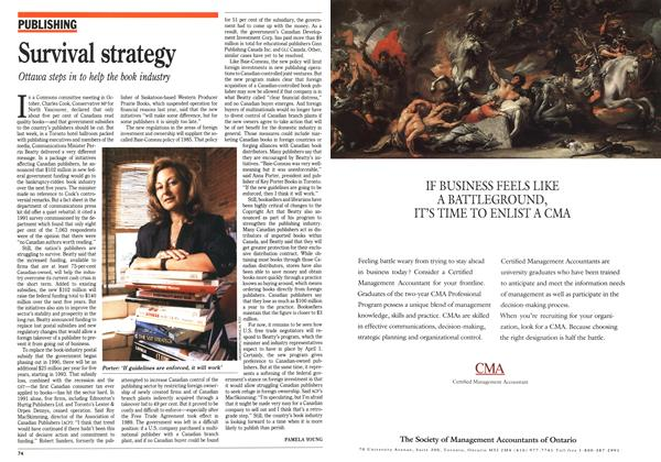 Article Preview: Survival strategy, February 1992 | Maclean's
