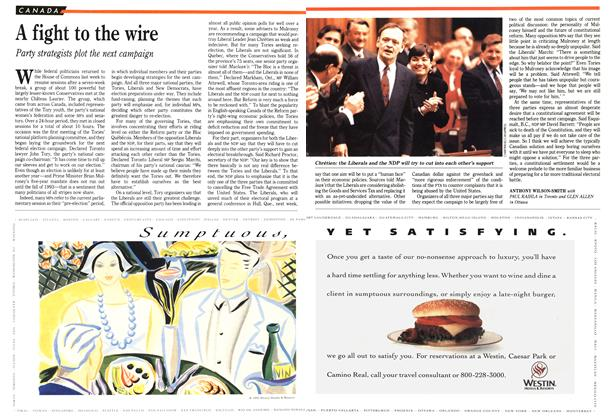 Article Preview: A fight to the wire, February 1992 | Maclean's