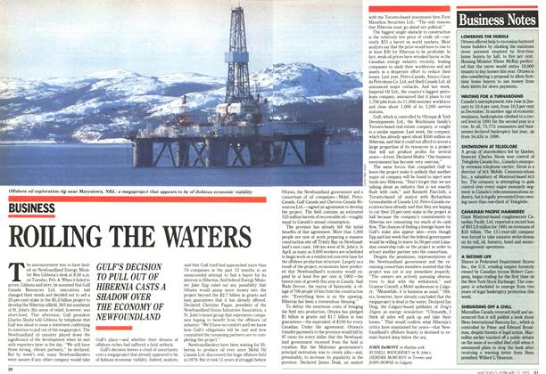 Article Preview: ROILING THE WATERS, February 1992 | Maclean's