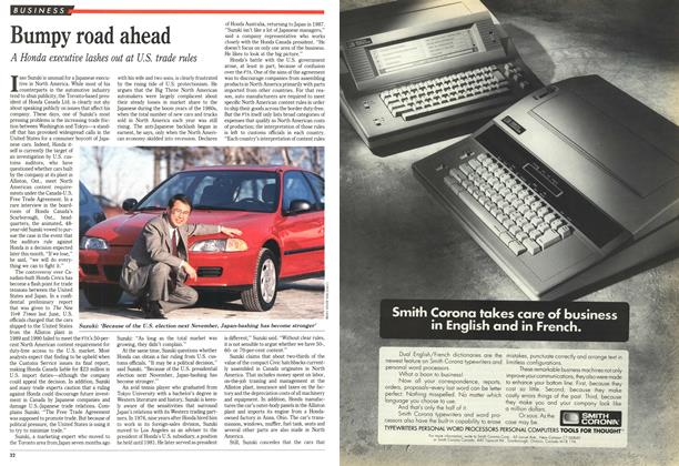 Article Preview: Bumpy road ahead, February 1992 | Maclean's