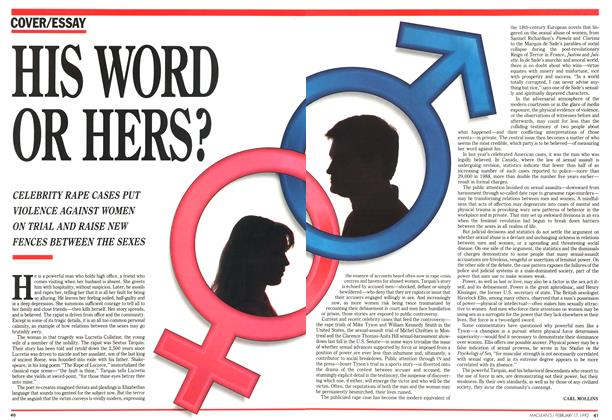 Article Preview: HIS WORD OR HERS?, February 1992 | Maclean's