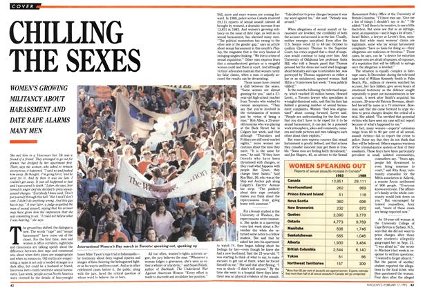 Article Preview: CHILLING THE SEXES, February 1992 | Maclean's