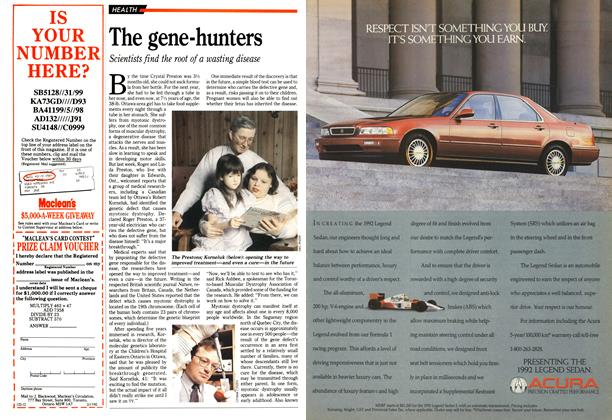 Article Preview: The gene-hunters, February 1992 | Maclean's