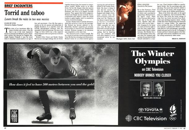 Article Preview: Torrid and taboo, February 1992 | Maclean's