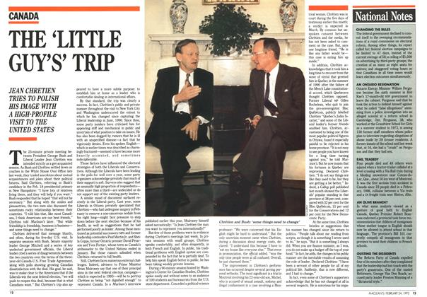 Article Preview: THE 'LITTLE GUY'S' TRIP, February 1992 | Maclean's