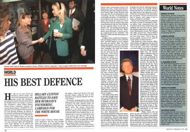 Article Preview: HIS BEST DEFENCE, February 1992 | Maclean's