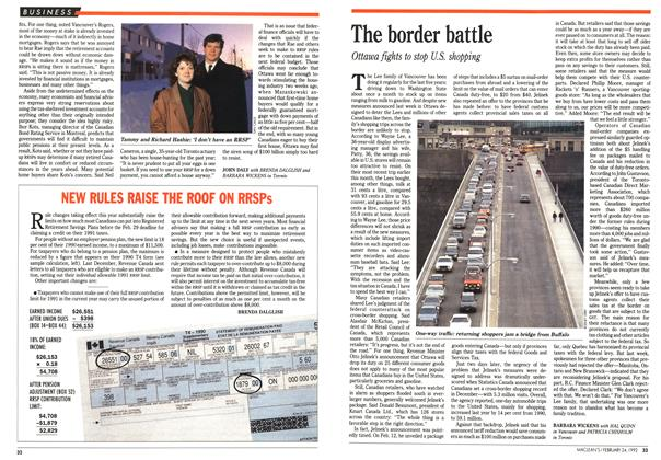 Article Preview: The border battle, February 1992 | Maclean's