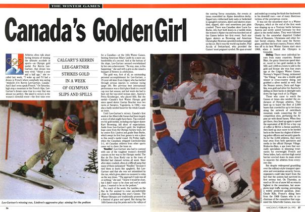 Article Preview: Canada's Golden Girl, February 1992 | Maclean's