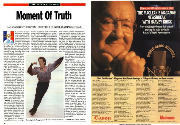 Article Preview: Moment Of Truth, February 1992 | Maclean's