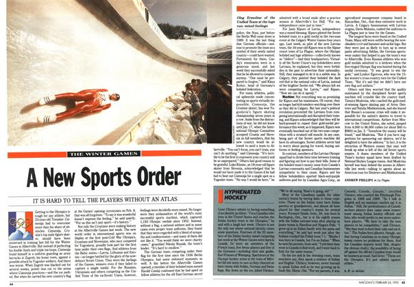 Article Preview: A New Sports Order, February 1992 | Maclean's
