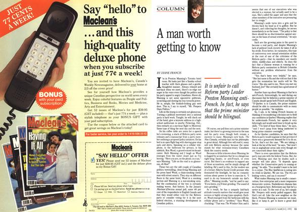 Article Preview: A man worth getting to know, March 1992 | Maclean's