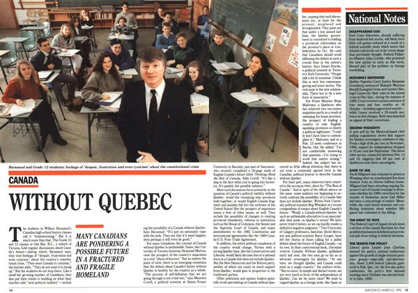 Article Preview: WITHOUT QUEBEC, March 1992 | Maclean's